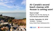 Public Invited to Join in 4ocean Canadian Shoreline Clean-up Powered by Air Canada and Say #bonvoyageplastic