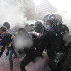 Abortion rights protesters clash with police in Mexico City