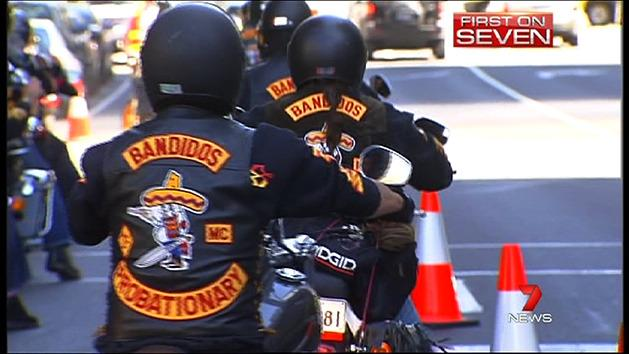 Bikies party stopped by police