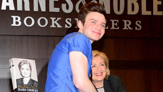 Chris Colfer Surprises Hillary Clinton At Her Hard Choices Book Signing