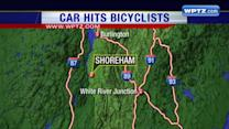 Police: Car hits bicyclists, sending several to the hospital