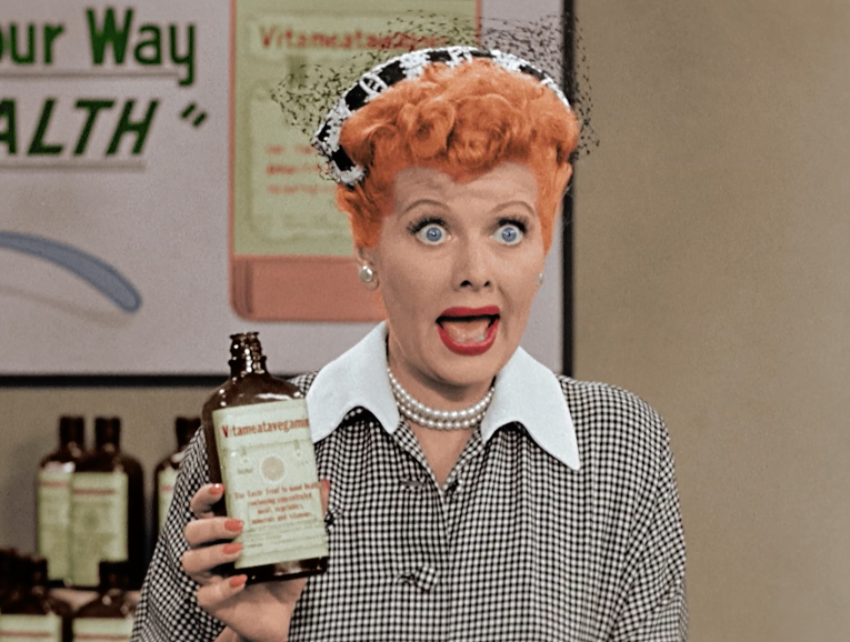 39 i love lucy 39 cbs colorizes classic vitameatavegamin ep for I love lucy coloring pages