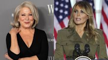 Bette Midler responds to backlash after calling Melania Trump an 'illegal alien' who 'can't speak English'