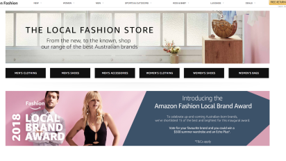 Competition heats up as Amazon Australia breaks into fashion sector