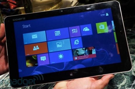Hands-on with Gigabyte's S1082 and S1185 Windows 8 tablets (video)