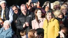 Princess Charlotte and Prince George Meet Members of the Public for First Time on Christmas Day — with 'Perfect' Manners
