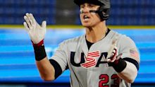 Playing in Japanese league team's home park, ex-Yankee Tyler Austin rakes for U.S. at Olympics