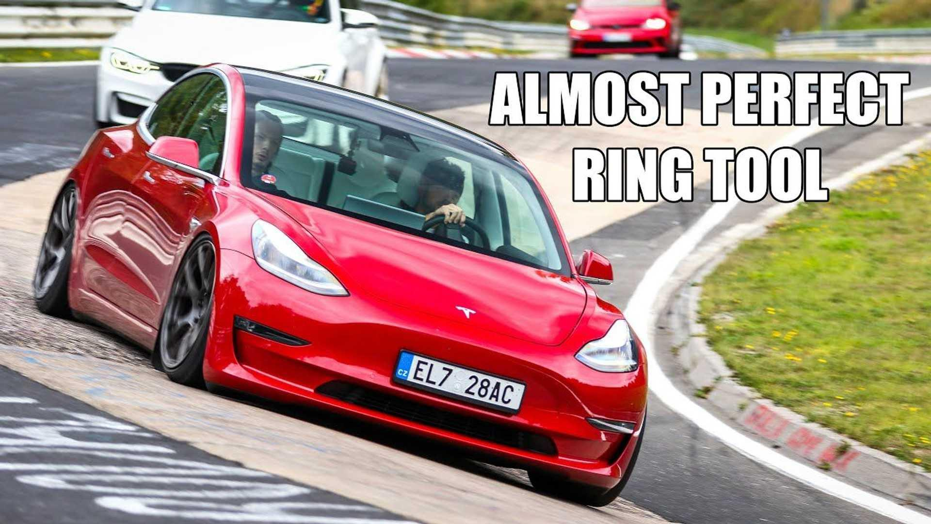 Modified Tesla Model 3 almost matches Porsche Taycan Nurburgring time