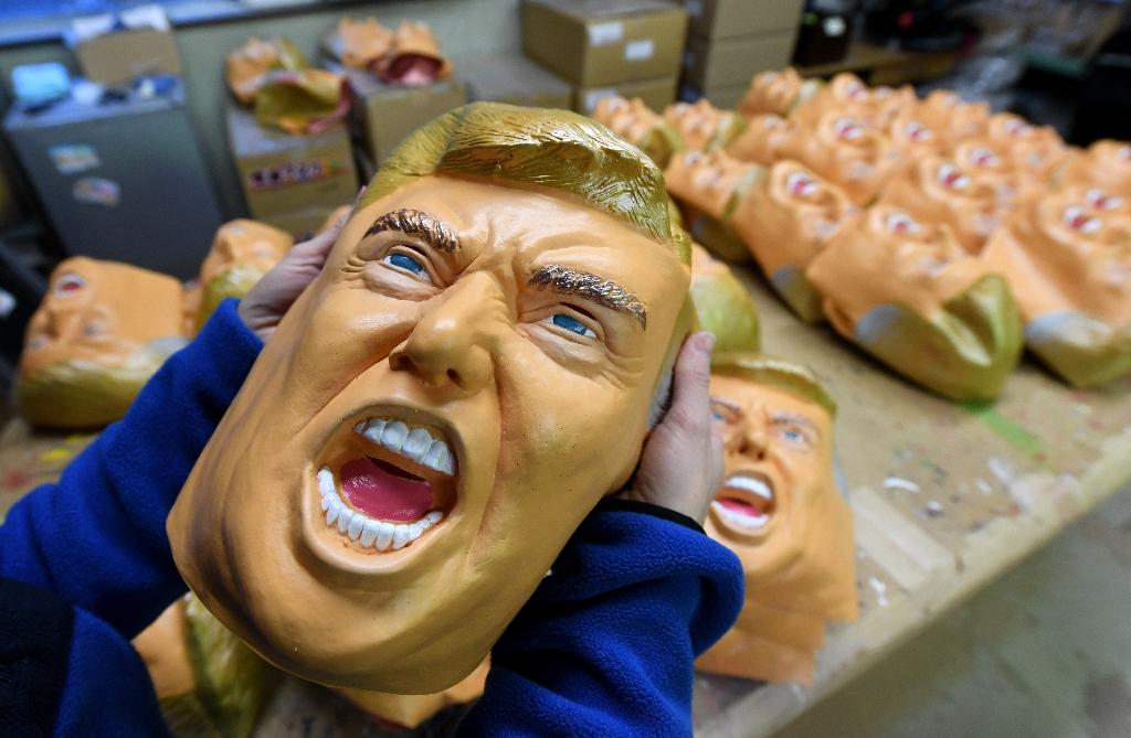 A mask of Donald Trump at the Ogawa Studios mask factory in Saitama, north of Tokyo (AFP Photo/Toshifumi Kitamura)