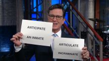 Stephen Colbert Hilariously Mocks Kellyanne Conway With Flashcards
