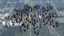 Upside Down Skydivers Smash World Record