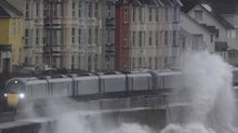 Rail passenger injured after wave smashes through window of moving train