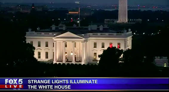Twitter Had Lots Of Theories About Those Flashing Red Lights On The White House