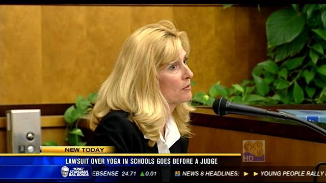 Lawsuit over yoga in schools goes before a judge