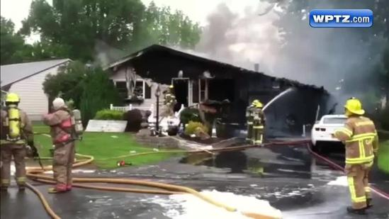 Home destroyed in morning blaze