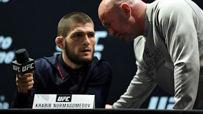White hinting maybe Khabib didn't really retire?