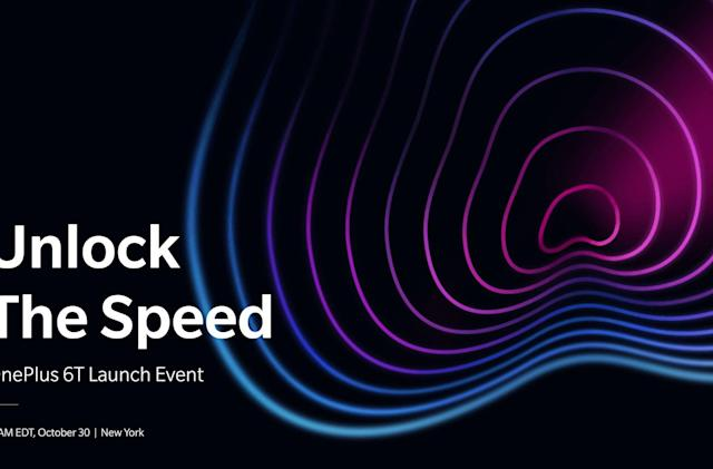 The OnePlus 6T will be unveiled on October 30th