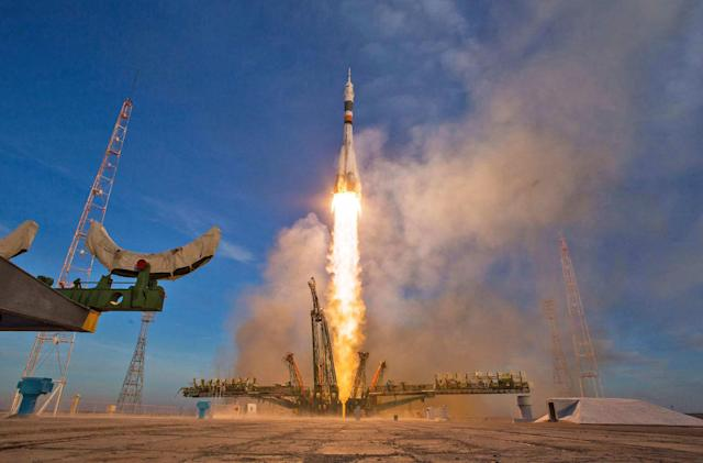 Astronauts aboard Soyuz spacecraft arrive safely at the ISS