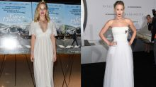 Why is Jennifer Lawrence wearing a wedding dress?