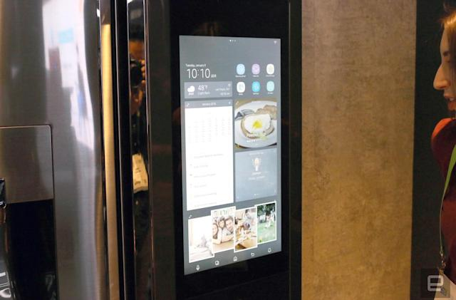 Samsung's  Bixby-powered Family Hub fridge is great at blasting tunes