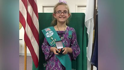 Girl Scout, 9, honored for saving mom