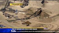 Piece of ordnance gets stuck in rock crusher at Sycamore Landfill