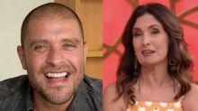 Diogo Nogueira faz propaganda da Netflix na Globo e deixa Fátima sem graça