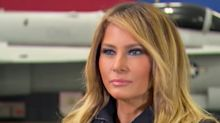 Melania Trump has a new blonde look and Twitter has thoughts: 'Looks like she grabbed Donald's bottle of hair dye'
