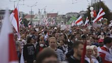Belarus crowds defy heavy military presence to demand end to Lukashenko's rule