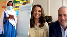Prince William and Kate Middleton compete in virtual Pictionary game with students