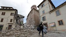Strong earthquakes hit central Italy