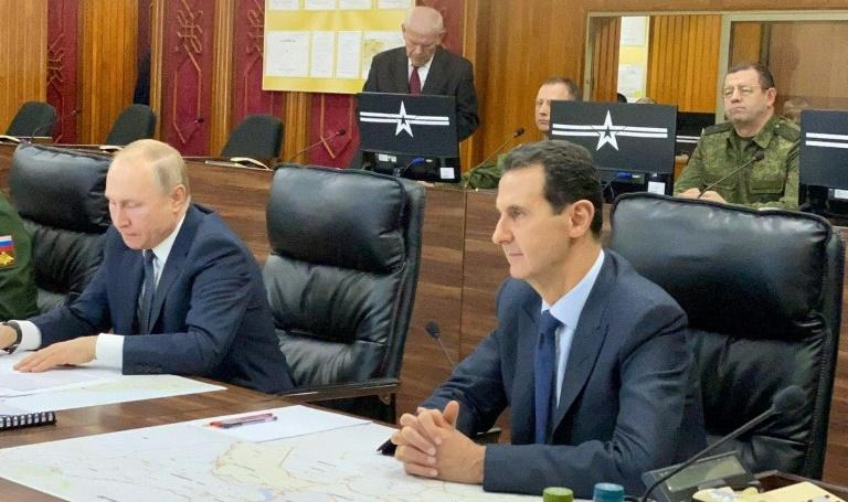 Putin met Assad on his first visit to Damascus since the start of the nearly nine-year-old war