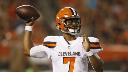 Rookie Kizer has Browns QB job all but won