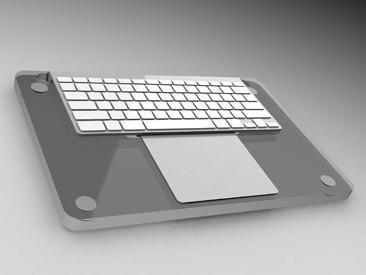 MacDec provides another way to combine keyboard and Magic Trackpad