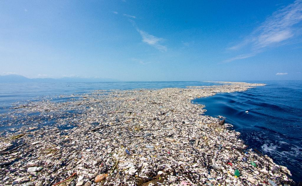 Eight million tonnes of plastics enter the oceans every year, much of which has accumulated in five giant garbage patches around the planet, according to a new study (AFP Photo/Handout)