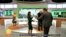 'I'm a Celeb': Piers Morgan chases Susanna Reid with tarantula
