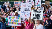 Demonstration in Boston gegen Grippe-Pflichtimpfung für Schüler