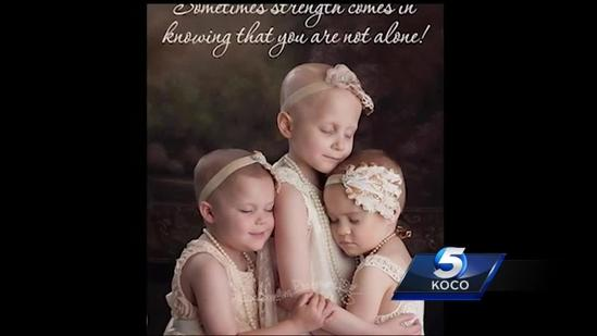An image of three girls with cancer from Oklahoma goes viral