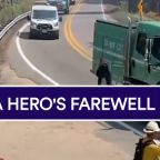 Procession held for firefighter who died battling El Dorado fire