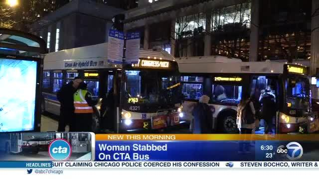 Woman stabbed on CTA bus on Magnificent Mile [Video]