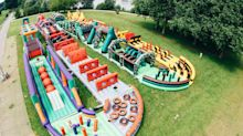 World's biggest bouncy castle dubbed 'The Beast' is an incredible893ft long