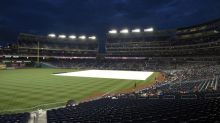 Nationals-Braves game had a 3-hour rain delay with almost no rain