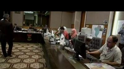 Vote counting continues into the night in Libya