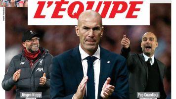 """Zinedine Zidane es el mejor entrenador de Europa, según """"'L'Equipe"""""""
