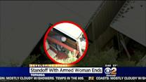 Armed Woman Taken Into Custody After 22-Hour Standoff At Topanga Mobile Home Park