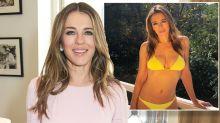 Elizabeth Hurley, 53, stuns in a yellow bikini: 'The most beautiful woman in the world!'