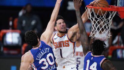 Suns vencen a 76ers y siguen invictos tras la reanudación