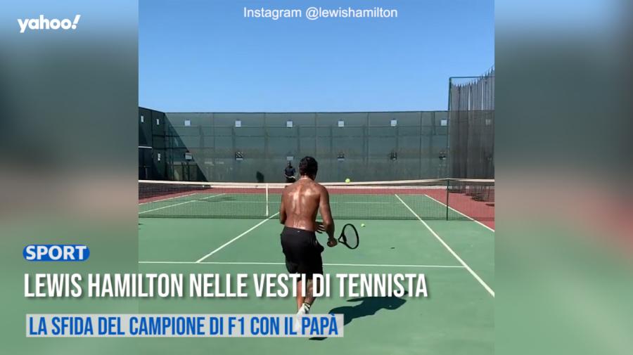Lewis Hamilton nelle vesti di tennista