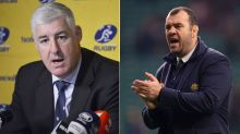 Rugby boss gives bizarre speech on Cheika's Wallabies future