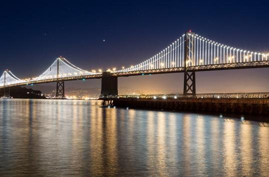 San Francisco's Bay Bridge keeps its computer-controlled lights